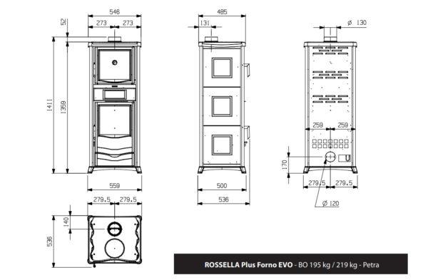 Rossella Plus Forno - Keittolevy ja uuni