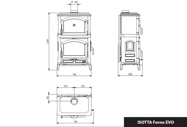 Isotta Con Forno EVO - valurautakamiina paistouunilla