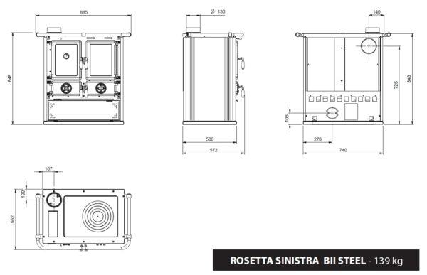 Rosetta BII vasen TERÄS UUTUUS!