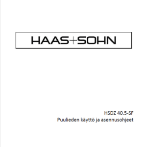 Haas+Sohn 40,5 - käyttöohje